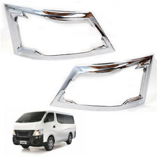 Fit 2015+ Nissan VAN Urvan NV350 Head lamp Cove Pickup Pair Chrome