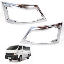 For 2015+ Nissan VAN Urvan NV350 Head lamp Cove Pickup Pair Chrome