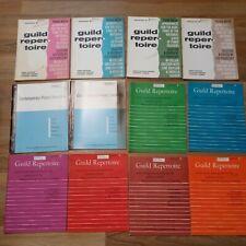 Vintage Piano Music Books Lot Of 12 guild repertoire