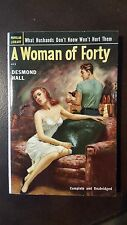 """Desmond Hall, """"Woman of Forty,"""" 1952, Popular Library 413, NF, 1st"""