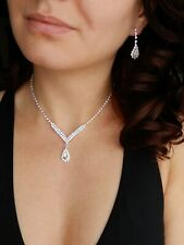 NECKLACE EARRINGS SET,WEDDING, PARTY,PROM,GIFT JEWELLERY VARIOUS MODELS UK STOCK