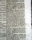 Historic CORNWALLIS Surrenders at YORKTOWN Revolutionary War 1781 U.K. Newspaper
