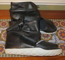 Nike Chukka Moc High Liberty of London 443576 003 Black Leather Sandals Shoes 6