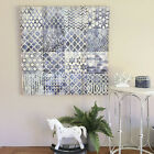 Navy Blue & White Wall Canvas/Ready to Hang Wall Art/Geometric Patterned Design