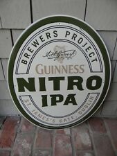 2015 NEW OLD STOCK GUINNESS NITRO IPA BEER TIN SIGN ST. JAMES GATE DUBLIN HARP