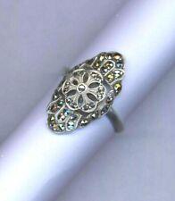 Art deco vintage – marcasite set Sterling silver ring