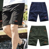 Men's Outdoor Sports Shorts Quick Dry Lightweight  Zipper Pockets Short Pants AM