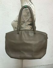 Ladies Leather Bag Zip Shoulder Bucket Tote Sac Italian Large Brown Grey L Taupe
