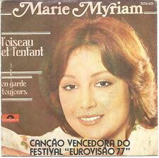 """MARIE MYRIAM L'OISEAU ET L'ENFANT EUROVISION 77 Portugal 7"""" PS 45"""