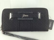 Women's GUESS Brand Large Black LA VIDA LOGO Trifold Wallet - $50 MSRP - 10%