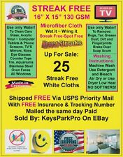 25 Streak Free MicroFiber Cleaning Cloths FREE SHIP Dealer ReSale Kit 5 Packs