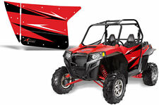 AMR Racing UTV Door Graphics Wrap for Polaris RZR 800/900 UTV Inc Doors (2) RED