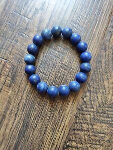 Matte Blue Lapis Bombshell Beads