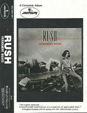 RUSH PERMANENT WAVES CASSETTE ALBUM U.S. re-issue HARD ROCK PROG ROCK