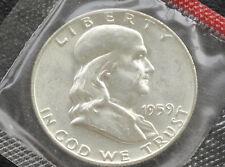 1959-D Franklin Half Dollar 90% Silver BU Coin from U.S. Mint Set D3039