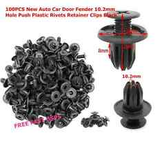 100pcs Auto Car Door Fender 10.2mm Hole Push Plastic Rivets Retainer Clips Black