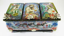 "Beautiful Russian Lacquer box Kholui ""Sea world of Mermaids""  Hand Painted #46-1"