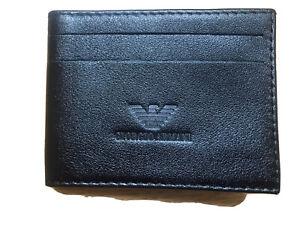 GIORGIO ARMANI CARD HOLDER IN BLACK GENUINE LATHER WITHOUT BOX