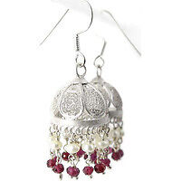 Kiss ! Ruby, Pearl 925 Sterling Silver Earrings