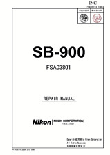 Nikon Flash SB-900 Service Repair Manual