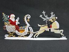 """ARTIST WILHELM SCHWEIZER GERMAN ZINNFIGUREN Santa in Sleigh (6.25""""x 2.75"""")"""