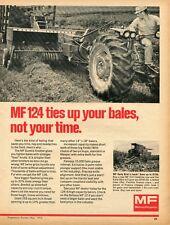 1973 Print Ad Massey Ferguson Mf 124 Suretie Knotter Baler 150 Combine Tractor