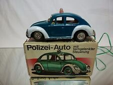 JAPAN TIN TOY BLECH VW VOLKSWAGEN BEETLE - POLIZEI POLICE - RC - GOOD IN BOX
