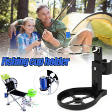 Folding Water Cup Holder Drink Holder for Outdoor Camping Fishing Chair Black