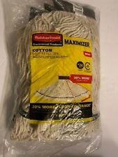 3-Pack Rubbermaid Maximizer Commercial Cotton Mop Refills #24 Large, 50 Uses