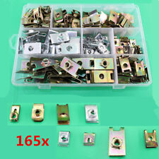 165x Mixed U Clip Car Fastener Washer Gasket Fender Panel Mudflap Mount Fittings