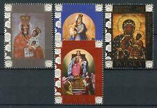 Poland 2018 MNH Madonnas of Eastern Borderlands 4v Set Icons Art Religion Stamps