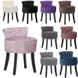Velvet Dressing Table Chair Vanity Stool Piano Stool Dining Chair Makeup Bedroom