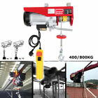 1760LBS 800KG Electric Wire Cable Hoist Winch Lifting Engine Crane Overhead Lift