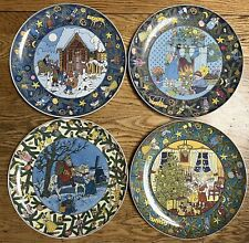 NEW Set Of 4 Villeroy and Boch Christmas In Europe Plates