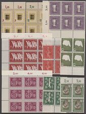 WEST GERMANY 1955-7 SETS IN VARIOUS MARGINAL MNH BLOCKS, EXCELLENT CONDITION