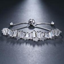 Baguette Cut Crystal Adjustable Bracelet - New in Gift Box - Three Colours