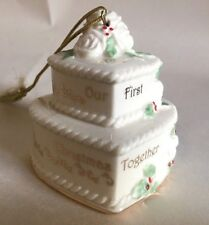 Lenox 2013 Our 1st Christmas Together Ornament Wedding Cake Anniversary Gift New