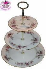 ROYAL ALBERT Lavender Rose 2 - 3 Teir Cake Stand 1st Eng c1961