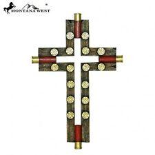 """Wall Cross Montana West Faux Wooden Shotgun Shell Resin 12"""""""