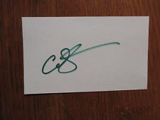 "CAM  GIGANDET (""The  O.C./Reckless/Twilight/Priest"")Signed  3"" x 5""  Index  Card"