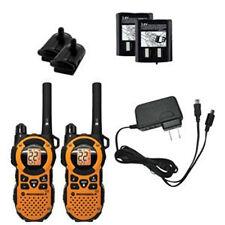 2 MOTOROLA Walkie Talkie MT351R RECHARGEABLE 2-Way Radios WEATHER iVox VibraCALL