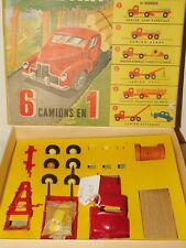 Joustra (France) 1018 6 in 1 Plastic Camion Truck Set - RARE