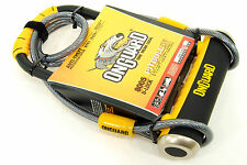 Onguard Pitbull U-lock DT with Cable and Bracket, Black/Yellow, Bike
