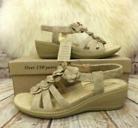 Womens Cushion Walk Sonia Taupe Slip On Low Heel Sandals VARIOUS SIZES!