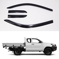 Smoke Weather Shields 4pcs for 07/2015 ~ 2019 Toyota HILUX WorkMate Extra-Cab