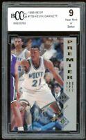 1995-96 SP #159 Kevin Garnett Rookie Card BGS BCCG 9 Near Mint+