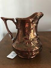 Copper Luster Ware Deer Pitcher Circa: 1800