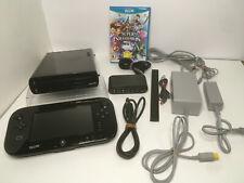 Nintendo Wii U 32GB System Console Bundle Lot + SMASH BROS Metroid FIRE EMBLEM