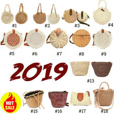 ❤ Summer Women Straw Rattan Holiday Beach Bag Woven Handbag Crossbody Tote Purse