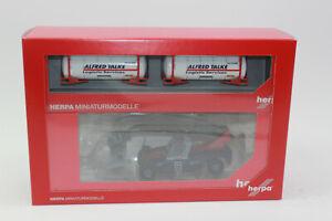 Herpa 311823 Liebherr Reachstacker LRS 645 + 2x Container Alfred Talke1:87 NEU